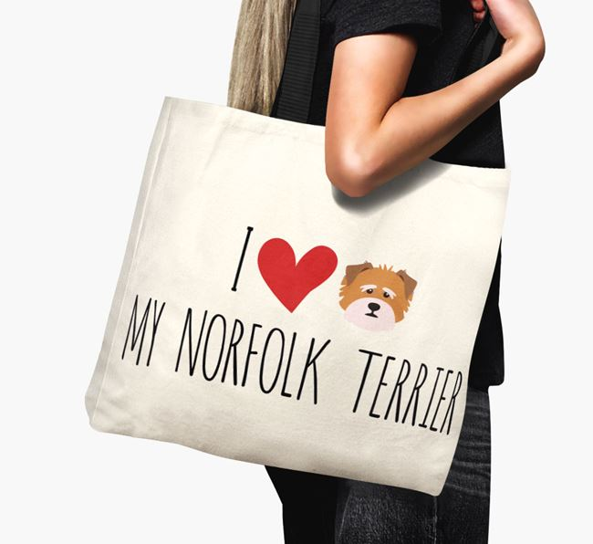 'I love my Norfolk Terrier' Canvas Bag