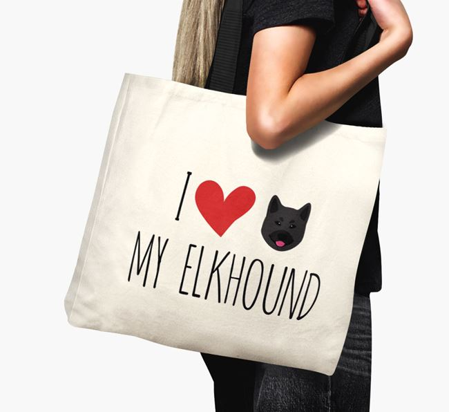 'I love my Elkhound' Canvas Bag