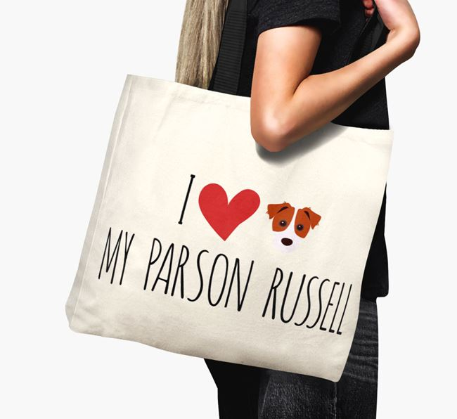 'I love my Parson Russell' Canvas Bag