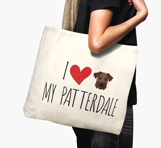'I love my Patterdale' Canvas Bag
