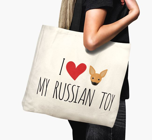 'I love my Russian Toy' Canvas Bag