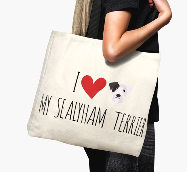 'I love my Sealyham Terrier' Canvas Bag