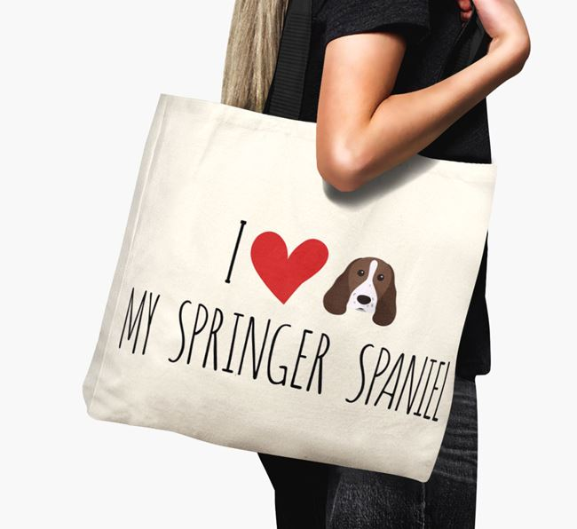 'I love my Springer Spaniel' Canvas Bag