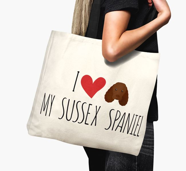 'I love my Sussex Spaniel' Canvas Bag