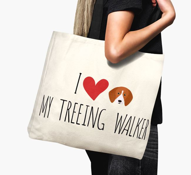 'I love my Treeing Walker' Canvas Bag