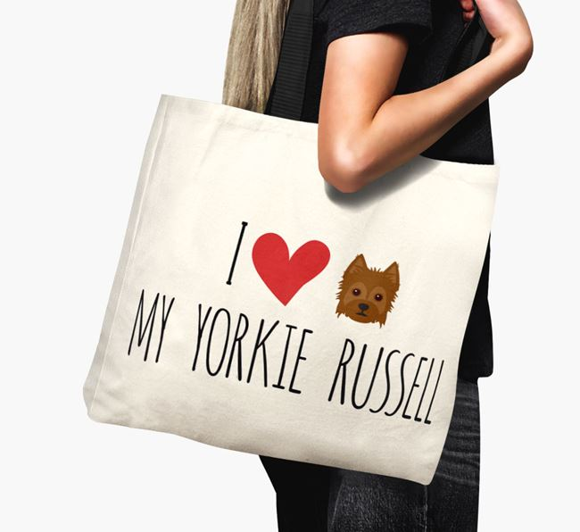 'I love my Yorkie Russell' Canvas Bag