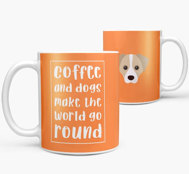 'Coffee and Dogs' Mug with Cheagle Icon