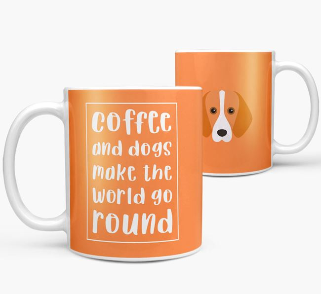 'Coffee and Dogs' Mug with Foxhound Icon