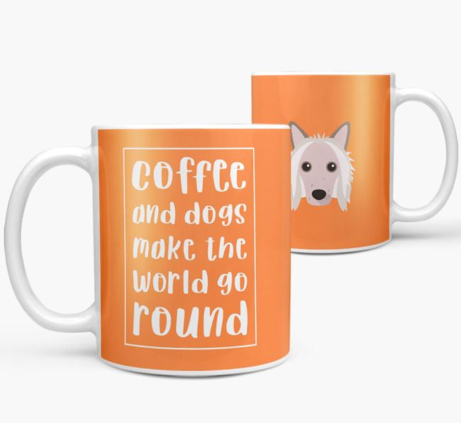 'Coffee and Dogs' Mug with Hairless Chinese Crested Icon