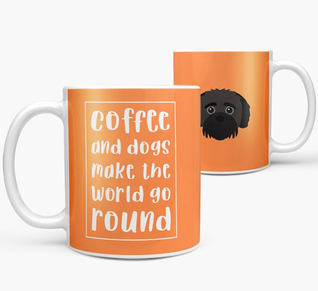 'Coffee and Dogs' Mug with Jack-A-Poo Icon