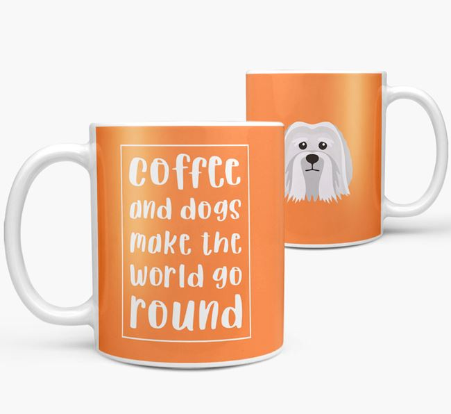 'Coffee and Dogs' Mug with Löwchen Icon