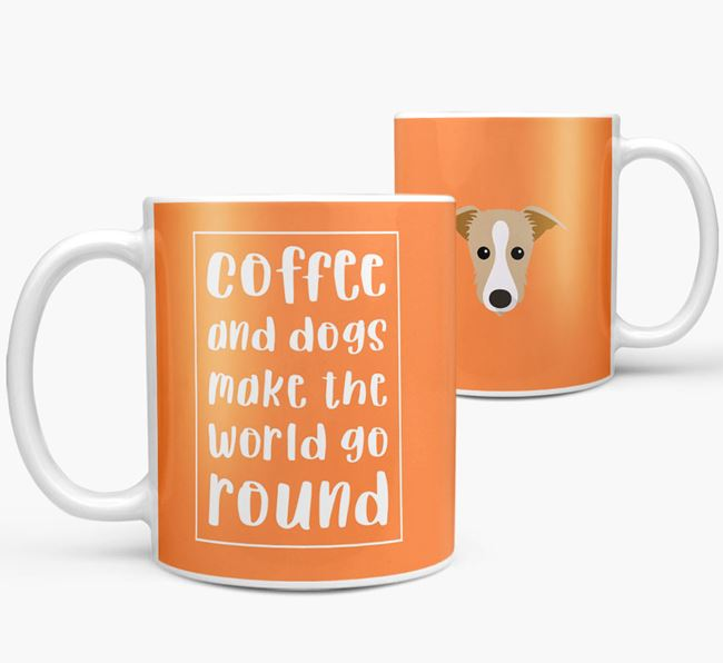 'Coffee and Dogs' Mug with Lurcher Icon