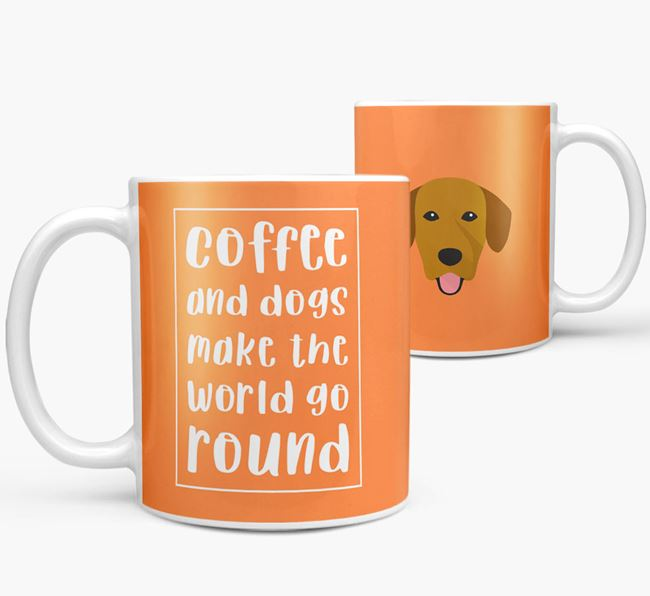 'Coffee and Dogs' Mug with Springador Icon