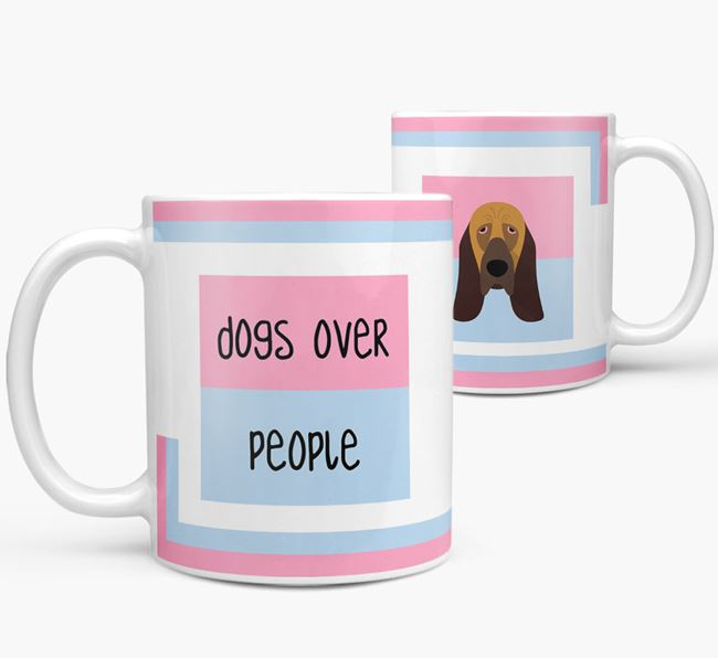 'Dogs Over People' Mug with Bloodhound Icon