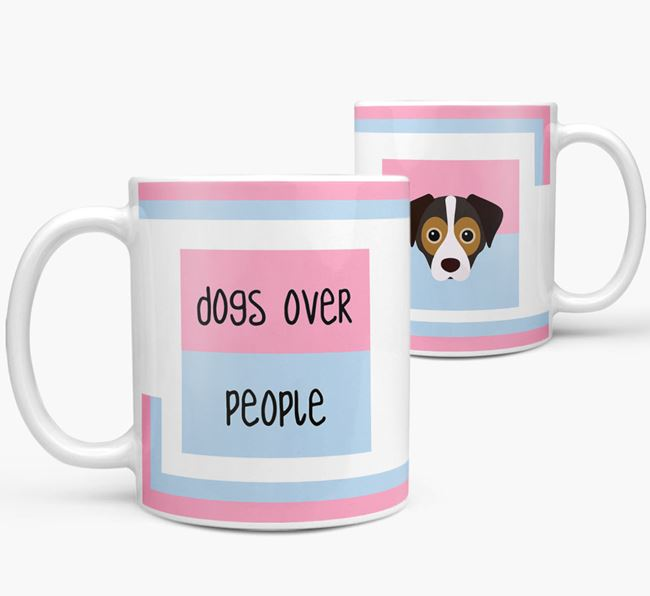 'Dogs Over People' Mug with Cheagle Icon