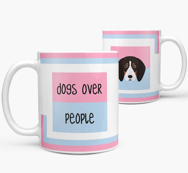 'Dogs Over People' Mug with English Coonhound Icon