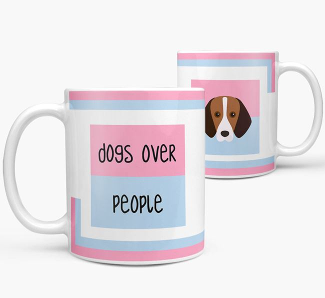 'Dogs Over People' Mug with Foxhound Icon