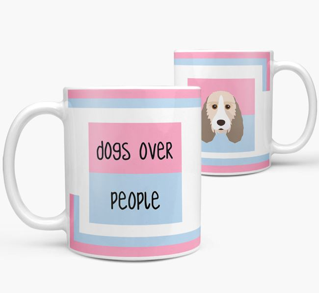 'Dogs Over People' Mug with Grand Basset Griffon Vendeen Icon
