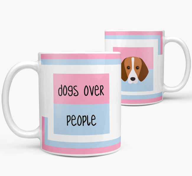 'Dogs Over People' Mug with Harrier Icon