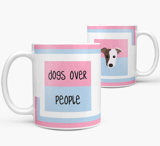 'Dogs Over People' Mug with Lurcher Icon