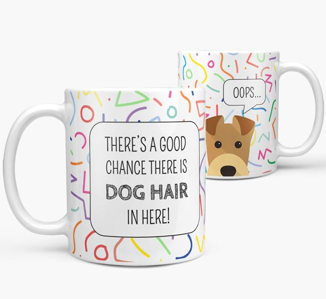 Oops' Mug with Airedale Terrier Icon