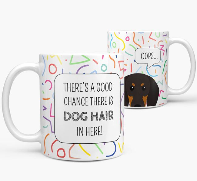 Oops' Mug with Black and Tan Coonhound Icon
