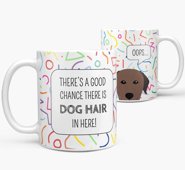 'Oops' Mug with Curly Coated Retriever Icon