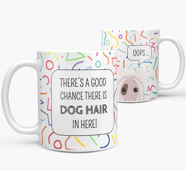 Oops' Mug with Hairless Chinese Crested Icon