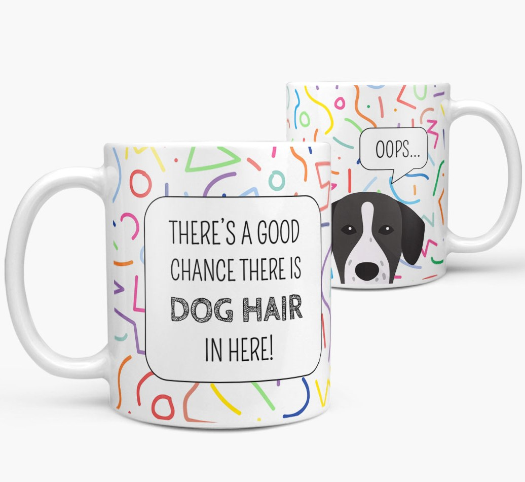 'Oops' Mug with Springador Icon both views