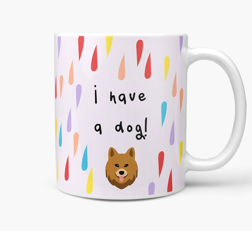 'I'm Not Single, I Have A Dog' Mug with Chow Shepherd Icon Side View