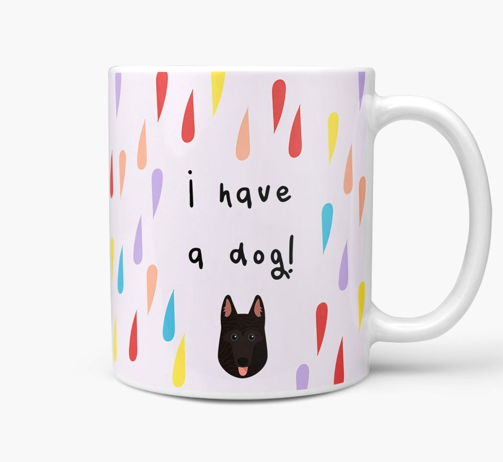 'I'm Not Single, I Have A Dog' Mug with Dutch Shepherd Icon Side View