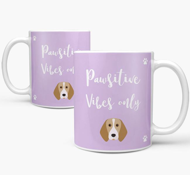 'Paw-sitive Vibes Only' Mug with Beagle Icon