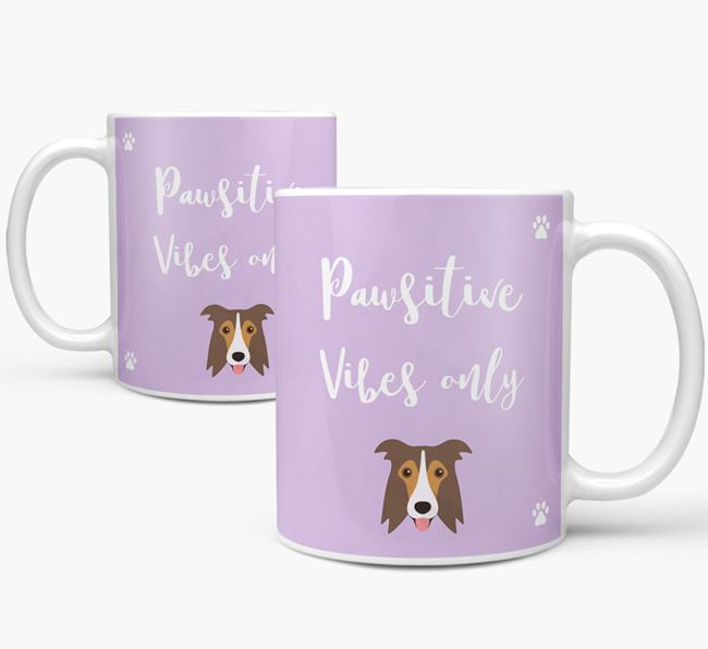 'Paw-sitive Vibes Only' Mug with Border Collie Icon