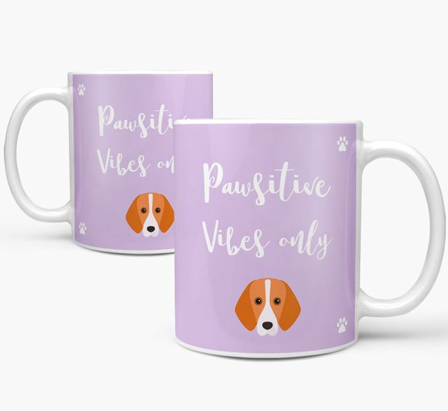 'Paw-sitive Vibes Only' Mug with Foxhound Icon