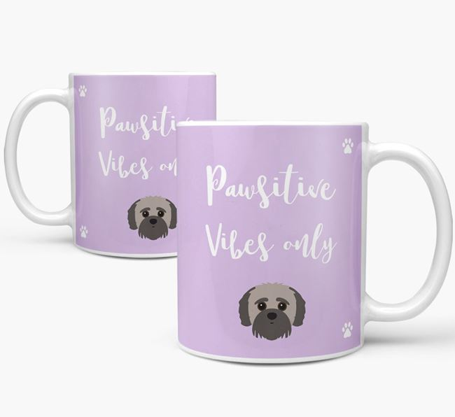 'Paw-sitive Vibes Only' Mug with Jack-A-Poo Icon