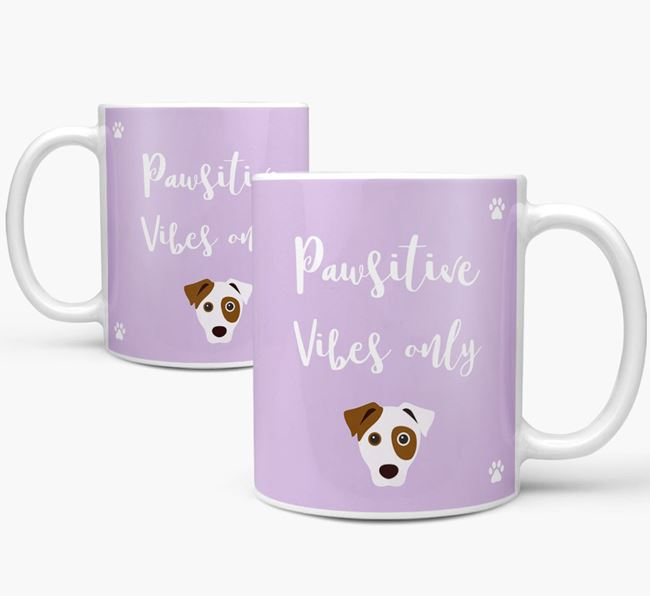 'Paw-sitive Vibes Only' Mug with Dog Icon