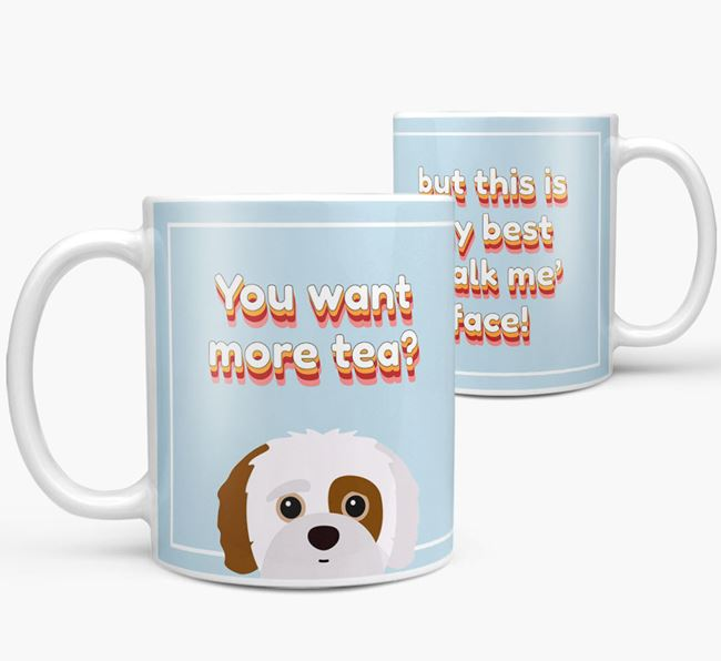 'You want more tea?' Mug with Jack-A-Poo Icon
