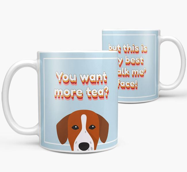 'You want more tea?' Mug with Springador Icon