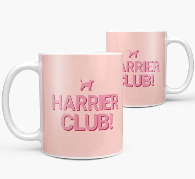 'Harrier Club!' Mug with Harrier Silhouette