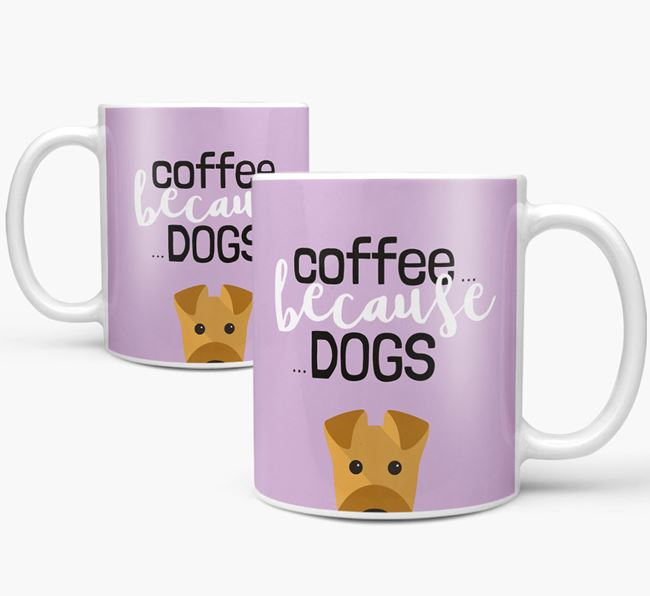 '...Because Dogs' Mug with Airedale Terrier Icon