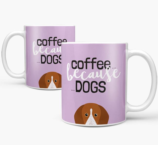 '...Because Dogs' Mug with English Coonhound Icon