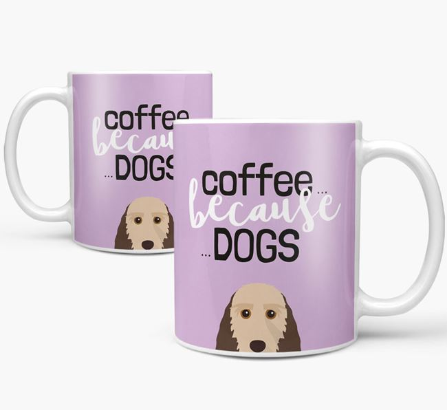 '...Because Dogs' Mug with Grand Basset Griffon Vendeen Icon