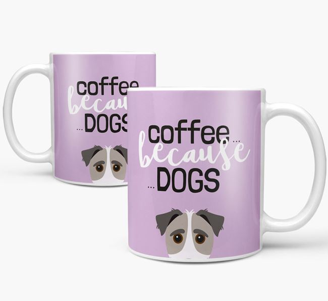 '...Because Dogs' Mug with Jack-A-Poo Icon
