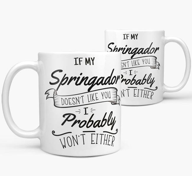 'If My Springador Doesn't Like You' Mug