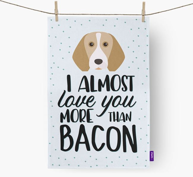 'More Than Bacon' Tea Towel with Beagle Icon
