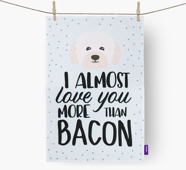 'More Than Bacon' Tea Towel with Bolognese Icon