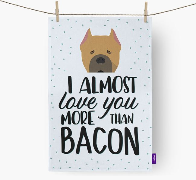 'More Than Bacon' Dish Towel with Cane Corso Italiano Icon