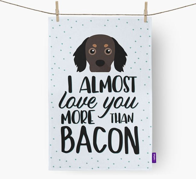'More Than Bacon' Tea Towel with Cavapom Icon