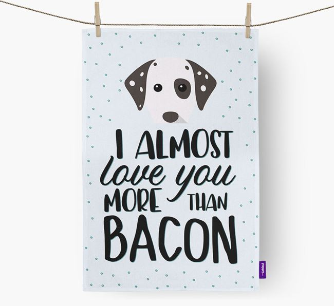 'More Than Bacon' Dish Towel with Dog Icon