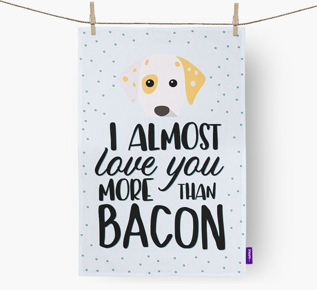 'More Than Bacon' Tea Towel with Dalmatian Icon